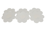 Fullness 3 Pairs of Satin Petal Disposable Nipple Cover Pasties