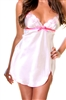 Polyester Chemise - Beige With Floral Embroidery